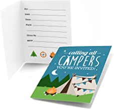 Big Dot of Happiness Happy Camper - Fill in Camping Baby Shower or Birthday Party Invitations (8 Count)