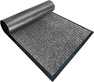 Gorilla Grip Original Low Profile Rubber Door Mat, 35x23, Heavy Duty, Durable Doormat, Indoor Outdoor, Waterproof, Easy Cl...