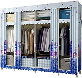ZZYE Penderie tissu Armoire placard zip up, vêtements de placard vêtements portables placard de rangement de rangement pla...