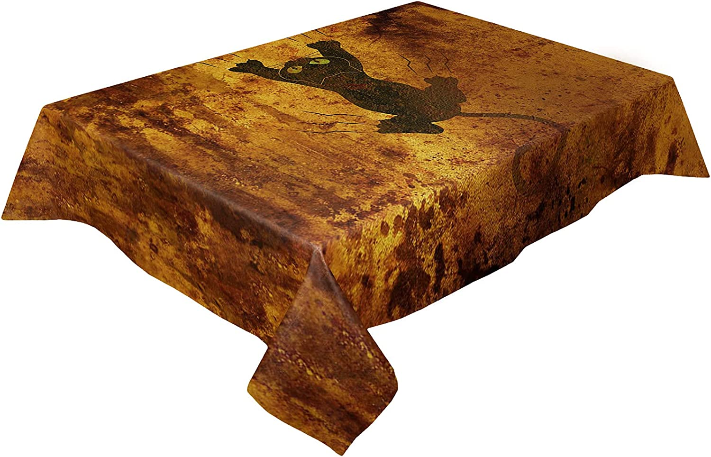 Savannan Burlap Inexpensive Kitchen Table Cloth Luxury Washable Dust- 54