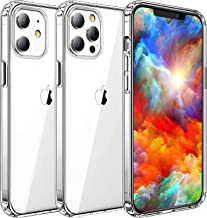 Yayoii Compatible with iPhone 12 Case/iPhone 12 Pro Case, 4 Corners Shockproof Crystal Clear Case, Anti-Yellowing Scratch-...