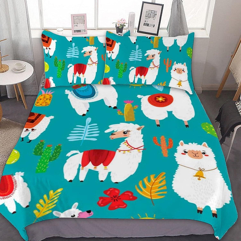 Max 54% OFF PNNUO Cute San Francisco Mall Llama Alpaca Queen Bed Full Set Twin King Size Comfor