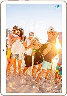 4G LTE Tablet 10 Pulgadas YOTOPT - Android 9.0, 4GB RAM y 64GB ROM, GPS/Bluetooth/WiFi Soporte (Oro)