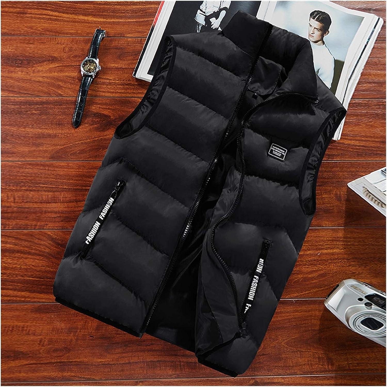 LYLY Vest Women Mens Jacket Sleeveless Vest Spring Thermal Soft Vests Casual Coats Male Cotton Men's Vest Men Thicken Waistcoat Coats Vest Warm (Color : Black, Size : L)