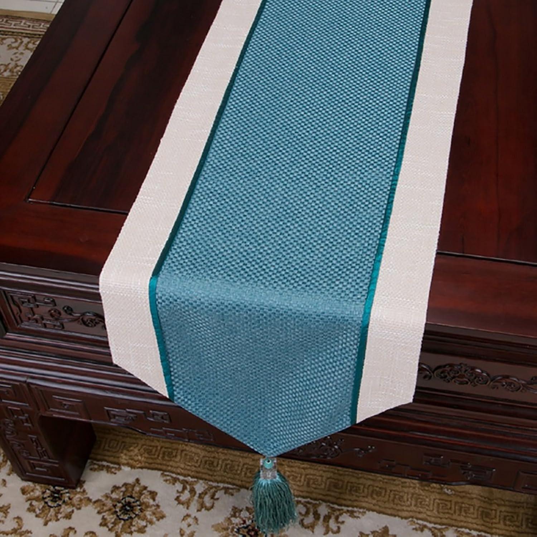 60% de descuento Table Runner TV Cabinet Cloth zapatos Cubierta del gabinete Towel Towel Towel Tea Table Cloth Pure Color Cotton Linen Table Cloth (Color   Azure, Tamaño   33300cm)  A la venta con descuento del 70%.