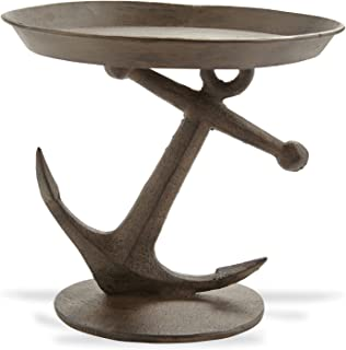 Mud Pie Metal Anchor Pedestal Server