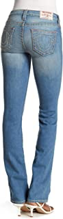 Women's Top-Stitched Slim Straight Fit Stretch Jeans in Northern Shore
