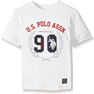 U.S. Polo Assn. Boys' Crew Neck Iconic Graphic Logo T-Shirt