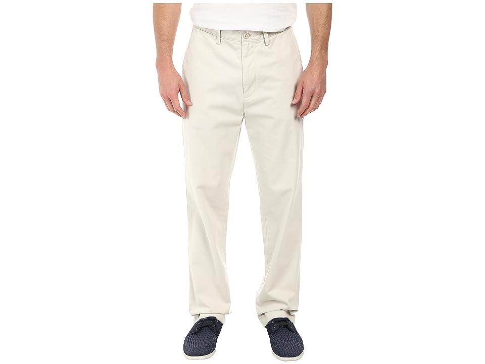Nautica Classic Flat Front Pants (Nautica Stone) Men