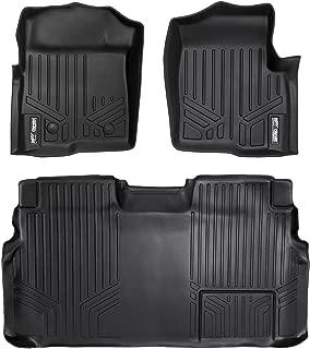 MAXLINER Floor Mats 2 Row Liner Set Black for 2011-2014 Ford F-150 SuperCrew Cab