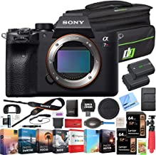 Sony a7R IV 61.0MP Full-Frame Mirrorless Interchangeable Lens Camera Body ILCE-7RM4 4K Bundle with Deco Gear Travel Bag, 2...
