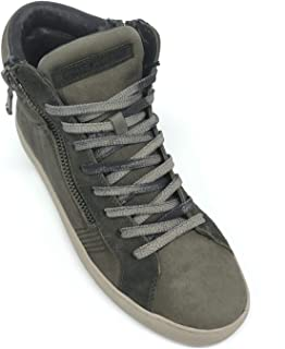 Crime London High Top Essential Sneaker Uomo in Pelle High Top Essential