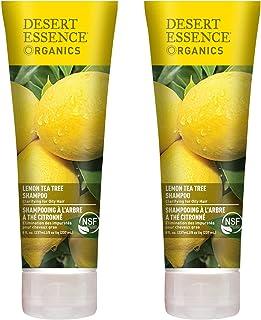 Desert Essence Lemon Tea Tree Shampoo - 8 Fl Oz - Pack Of 2 - Removes Excess Oil - Revitalizes Scalp - Strengthens & Prote...