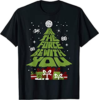 Star Wars May The Force Be With You Christmas Tree T-Shirt