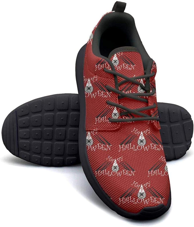 Gjsonmv Bat Halloween Green mesh Lightweight shoes for Women Fashion Sports Trail Running Sneakers shoes
