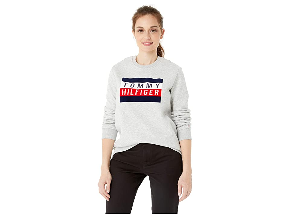 Tommy Hilfiger Adaptive Sweatshirt with Hidden Magnetic Buttons (Grey Heather) Women