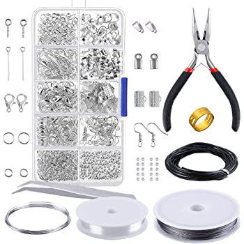 DIY Wire Jewelry Making Kit Sterling Silver and Repair Tools Craft Supplies Set