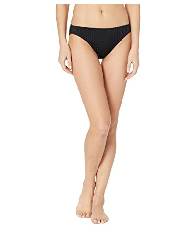 MICHAEL Michael Kors Solid Rib Classic Bikini Bottoms (Black) Women