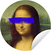 Muursticker Oude meestersKerst illustraties - Wandcirkel Oude meestersKerst illustraties - Mona Lisa van oude meester Leon...