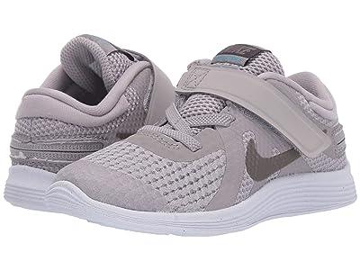 Nike Kids Revolution 4 FlyEase (Infant/Toddler) (Atmosphere Grey/Metallic Pewter/Thunder Grey) Kids Shoes