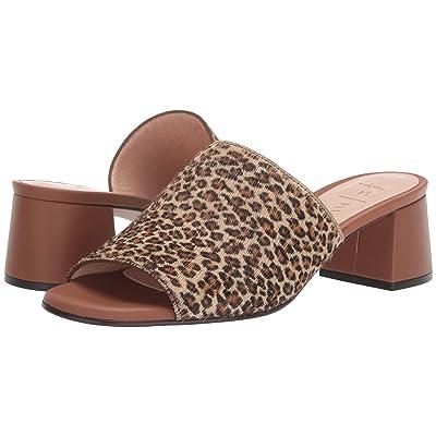 French Sole Damita Heeled Sandal (Leopard Haircalf) Women