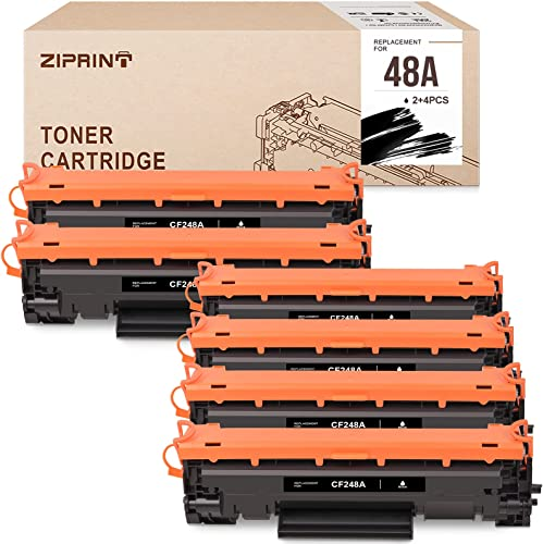 popular ZIPRINT Compatible outlet online sale Toner Cartridge Replacement sale for HP 48A CF248A for HP Laserjet Pro M15 M16 M31w Pro MFP M28 M29 Prnter (Black, 6-Pack) outlet sale