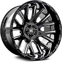 V-Rock VR10-2215844GBM Multi Recoil 22X12 (-44Mm) Gloss Black/Milled Spokes 6X5.50 108.1Mm Bore