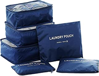 PHENOMENAL® Travel Clothes Organiser Bag 6 in 1 Cosmetics Make-up Laundry Pouch