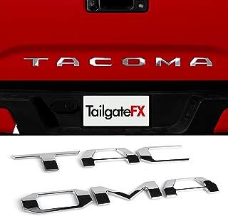 TAILGATE LETTERING | TACOMA 2016 2017 2018 2019 2020 | Insert/Emblem Raised Lettering | 3D SUPER CHROME