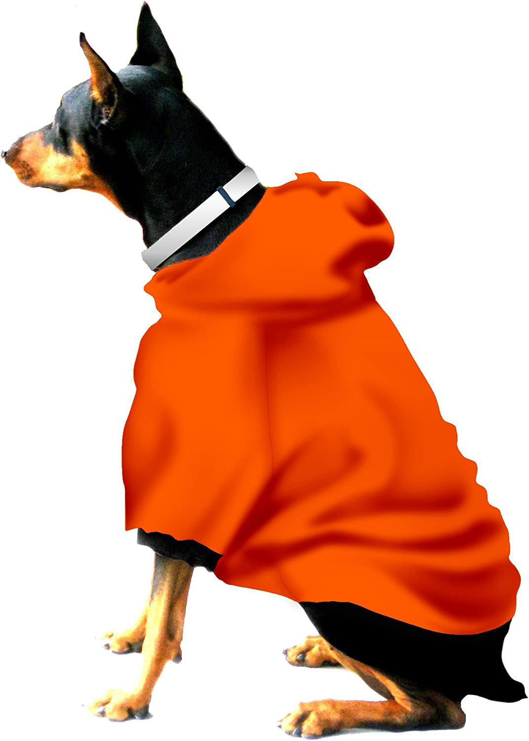 Boxer  Doberman Dog Sweatshirt for Large Dog (60 to 90 Pounds) orange Black Trim