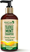 WishCare Tea Tree Mint Shampoo - Cleansing Formula - Free from Mineral Oils, Sulphates & Parabens - For All Hair Types - 300 Ml