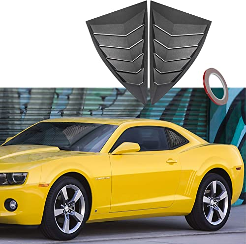 for Camaro 2010-2015 LS LT RS SS GTS Quarter Side Window Scoop Louvers ABS Window Scoop Cover Vent Lambo GT Style