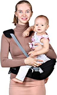 Baby Hip Seat Carrier Waist Stool – Safety Certified Back Pain Relief Soft Carrier..