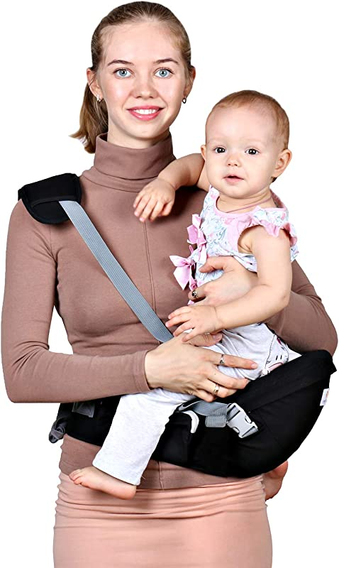 Baby Hip Seat Carrier Waist Stool Safety Certified Back Pain Relief Soft Carrier Ergonomic M Position 100 Cotton For All Seasons Child Infant Toddler Perfect Baby Shower Gift