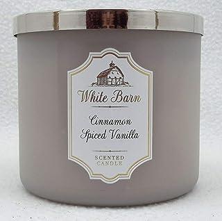 Bath & Body Works CINNAMON SPICED VANILLA 3-Wick Candle with essential oil 14.5 oz / 411 g