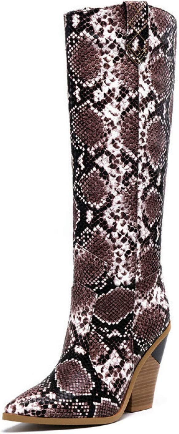 FMTZZY High Heels Department store for Max 52% OFF Women Cowboy Womens Knee Boot Western