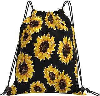 "Sports Yoga Drawstring Bag Women's Men's Waterproof Backpack Canvas Beach Outdoor Backpack Leaves 15""x17"""
