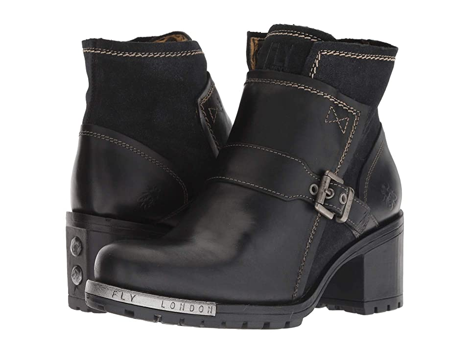 FLY LONDON LABE302FLY (Black/Anthracite Rug/Griffon) Women