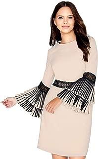 Womens/Ladies Pleat Sleeve Shift Dress