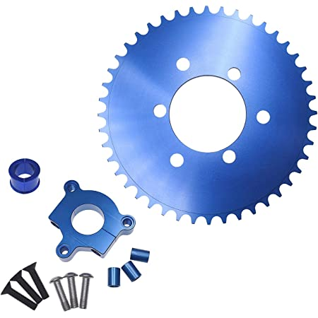 """For 1/"""" 1.5/"""" Hub 66cc 80cc Motorized Bicycle 415 Chain CNC Adapter 44T Sprocket"""