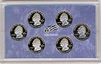 2009 S District of Columbia and 5 US Territories Quarters Proof Set - 6 coins - Quarters GEM Proof No Box or COA US Mint