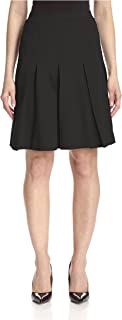 Women's Box Pleat Ponte Skirt
