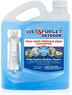 Wet & Forget No Scrub Outdoor Cleaner for Easy Removal of Mold, Mildew and Algae Stains, Bleach-Free Formula, 64 Oz. Ready...