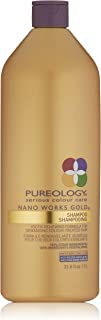 Pureology | Nano Works Gold Cleansing Shampoo | Youth-Renewing Formula for Color Treated Hair | Sulfate-Free | Vegan