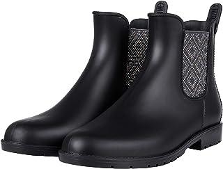 Colorxy Women's Ankle Rain Boots Waterproof Chelsea Booties Short Rain Shoes for Women