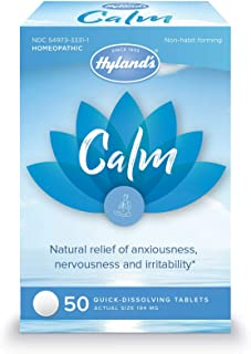 Hyland's Calm Tablets, Anxiety and Stress Relief Supplement, Natural Relief of Anxiousness, Nervousness, and Irritability,...