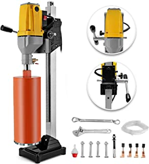 Happybuy Diamond Drilling Machine 6 Inch 160MM Capacity 110V Diamond Core Drill Rig Diamond Core Drilling Machine with Drill Bit for Wet Dry Concrete Brick Block (Drill Bit Diameter: 4.25 Inch 108MM)