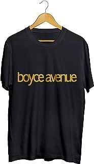 Camisetas Boyce Avenue Dourado Masculino Preto