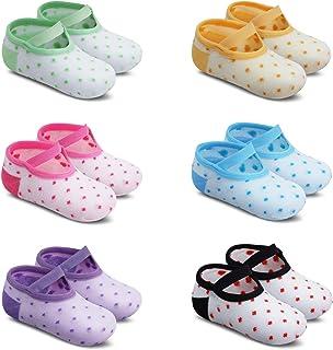 Bebés Niñas Calcetines Tobilleros Antideslizantes de Algodón 1-3 Años Paquete de 6 Pares