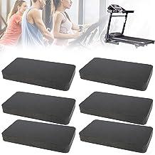 Bestine Loopbandmat, 6 stuks, antislip, slijtvast en anti-trillingen, geluidsdempingskussen voor fitnessapparaten, loopban...